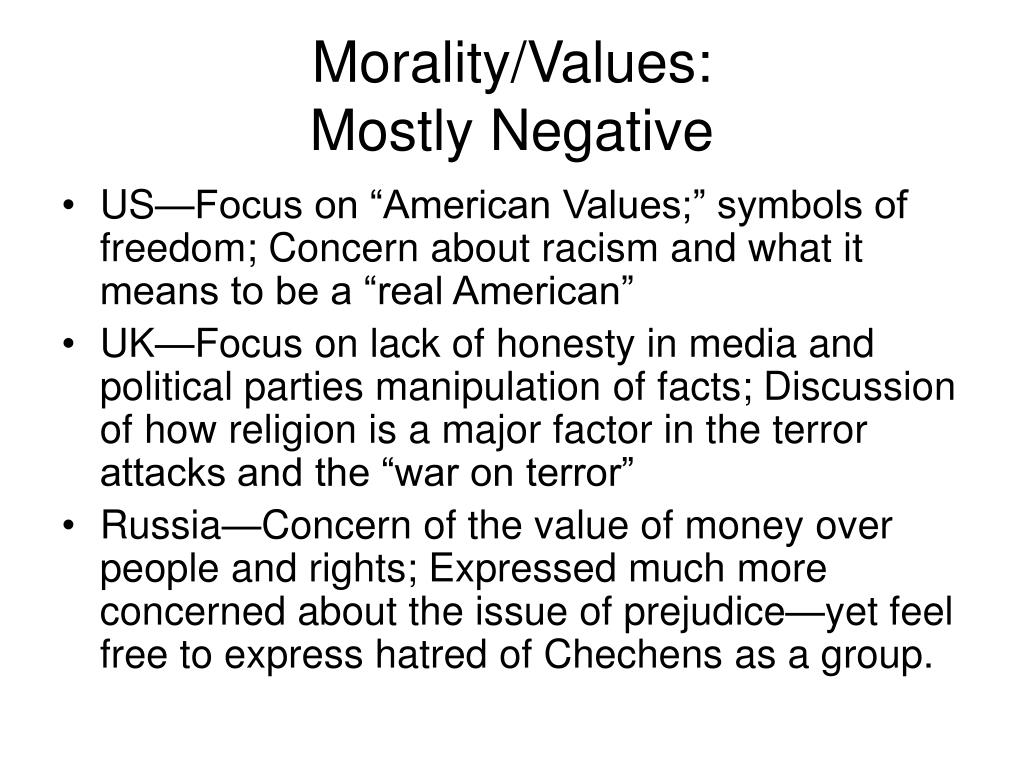 Morality/Values: