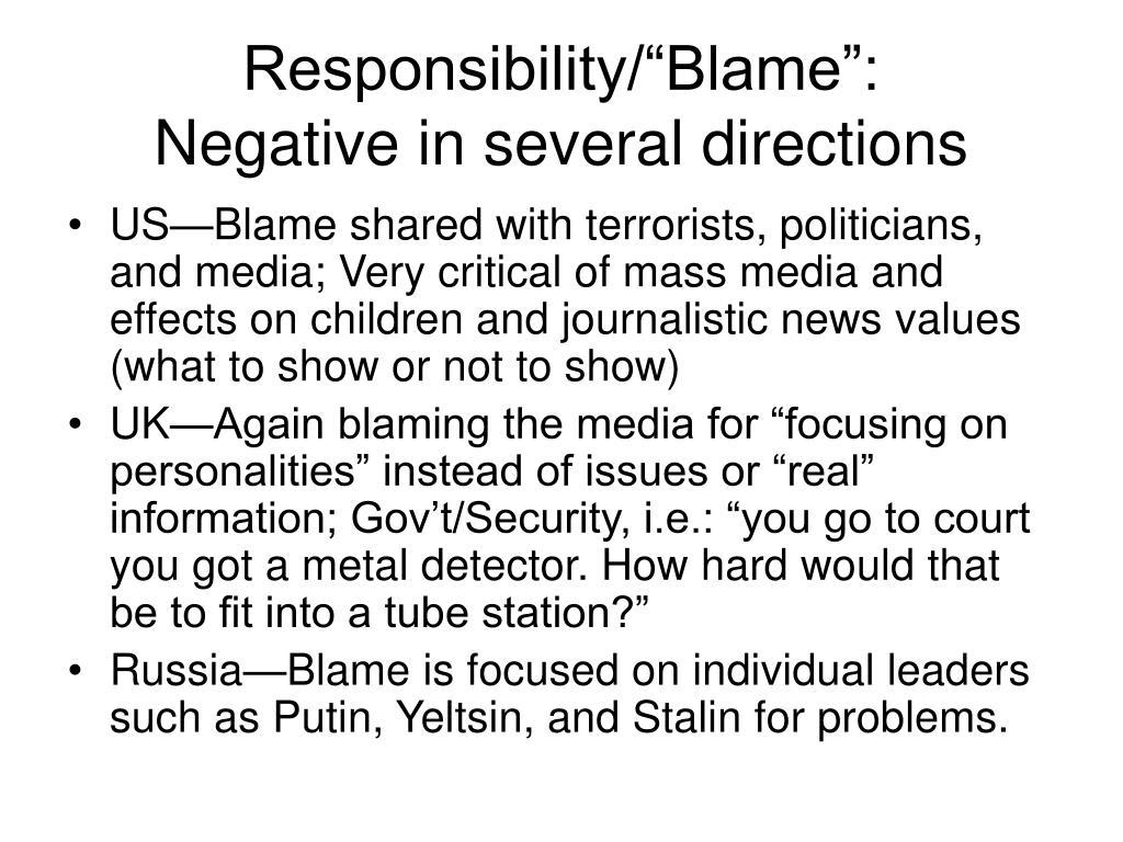 "Responsibility/""Blame"":"