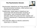 the psychomotor domain
