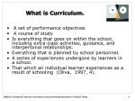 what is curriculum1