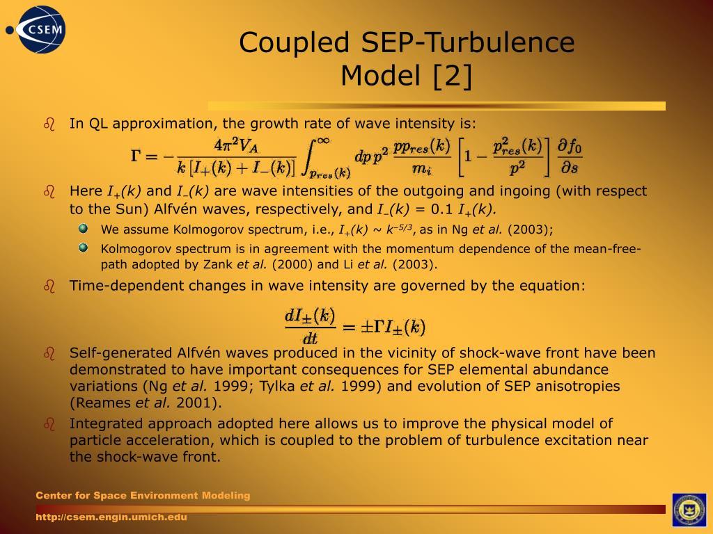 Coupled SEP-Turbulence Model [2]