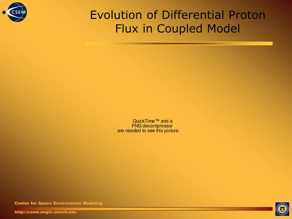 Evolution of Differential Proton Flux in Coupled Model