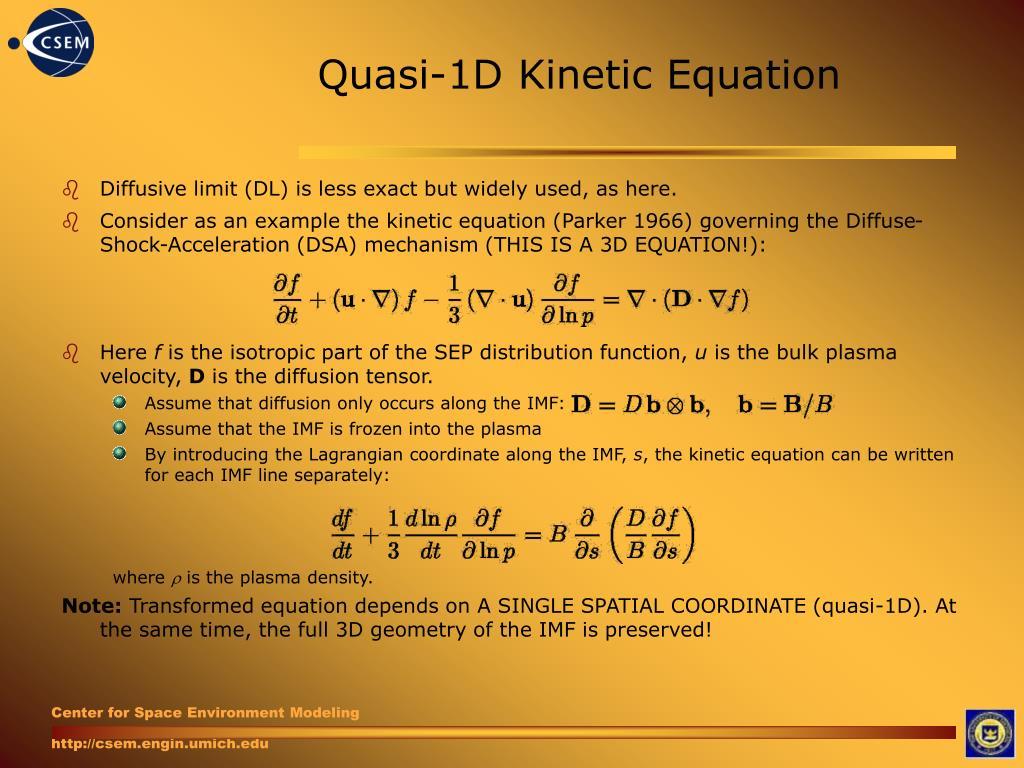 Quasi-1D Kinetic Equation