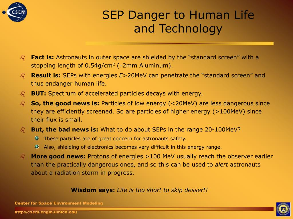 SEP Danger to Human Life and Technology