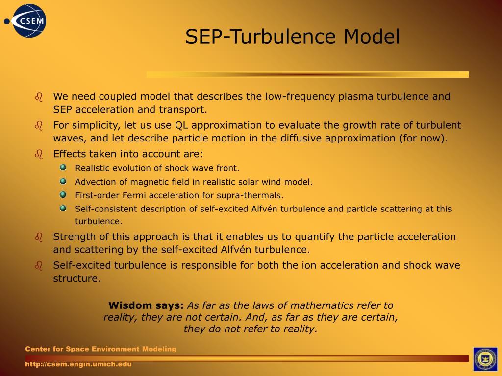 SEP-Turbulence Model