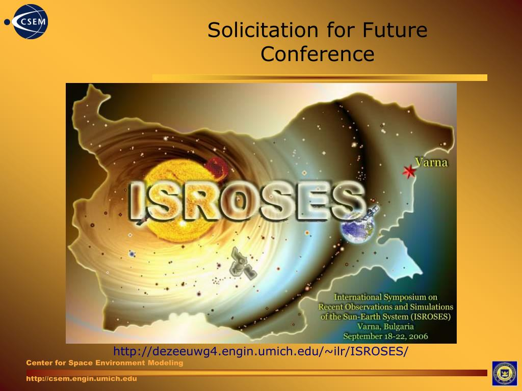Solicitation for Future Conference