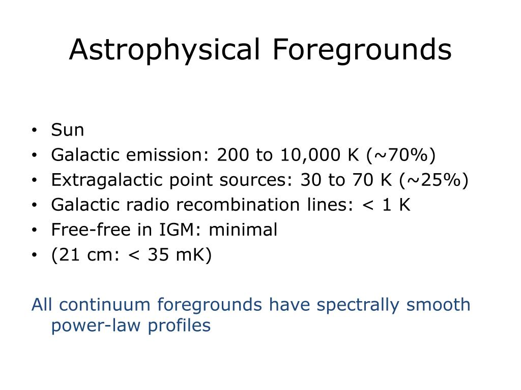 Astrophysical Foregrounds