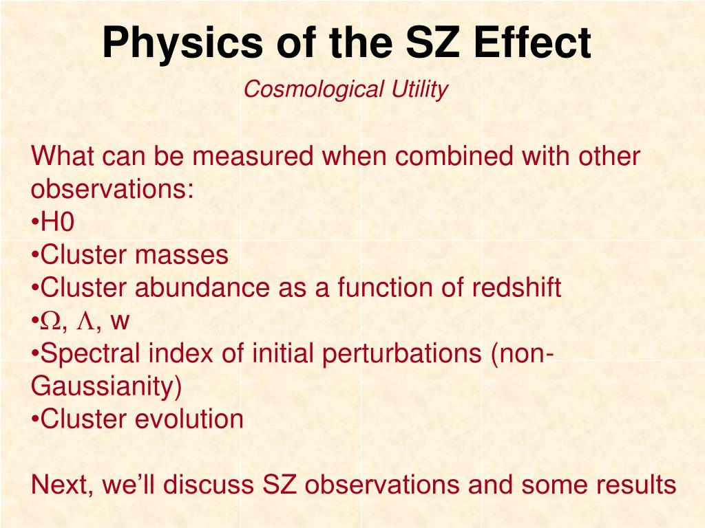 Physics of the SZ Effect