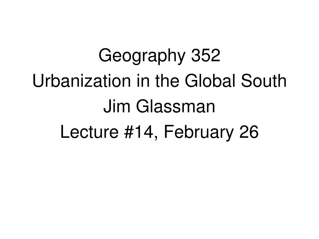 Geography 352