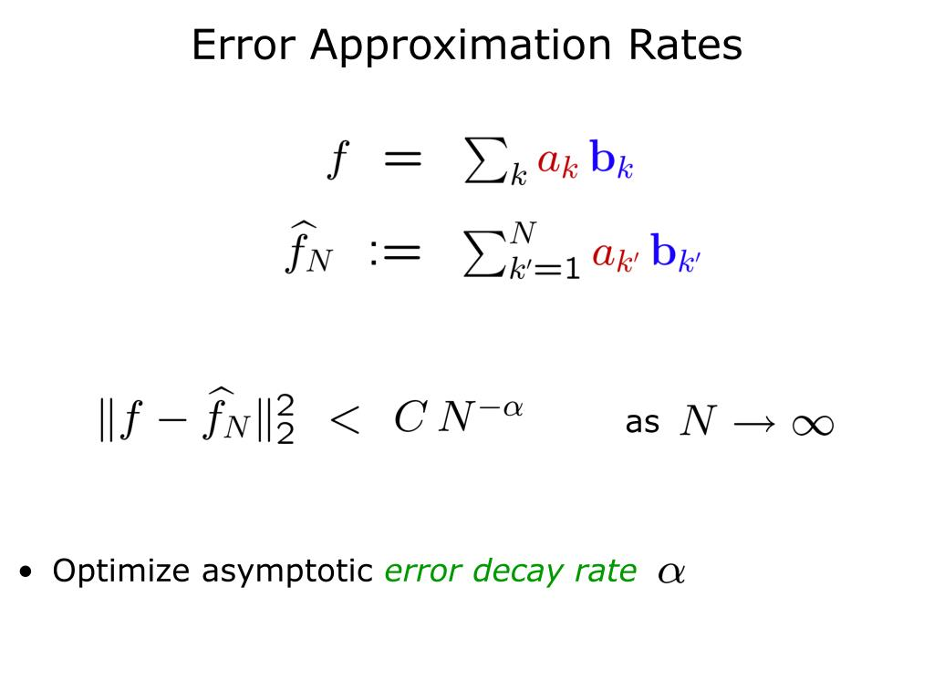 Error Approximation Rates