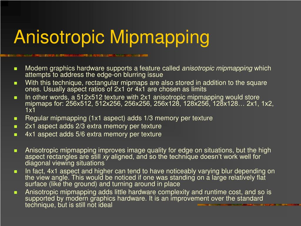 Anisotropic Mipmapping