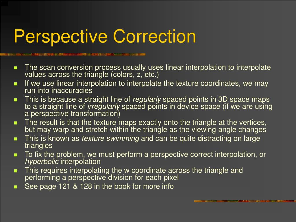 Perspective Correction