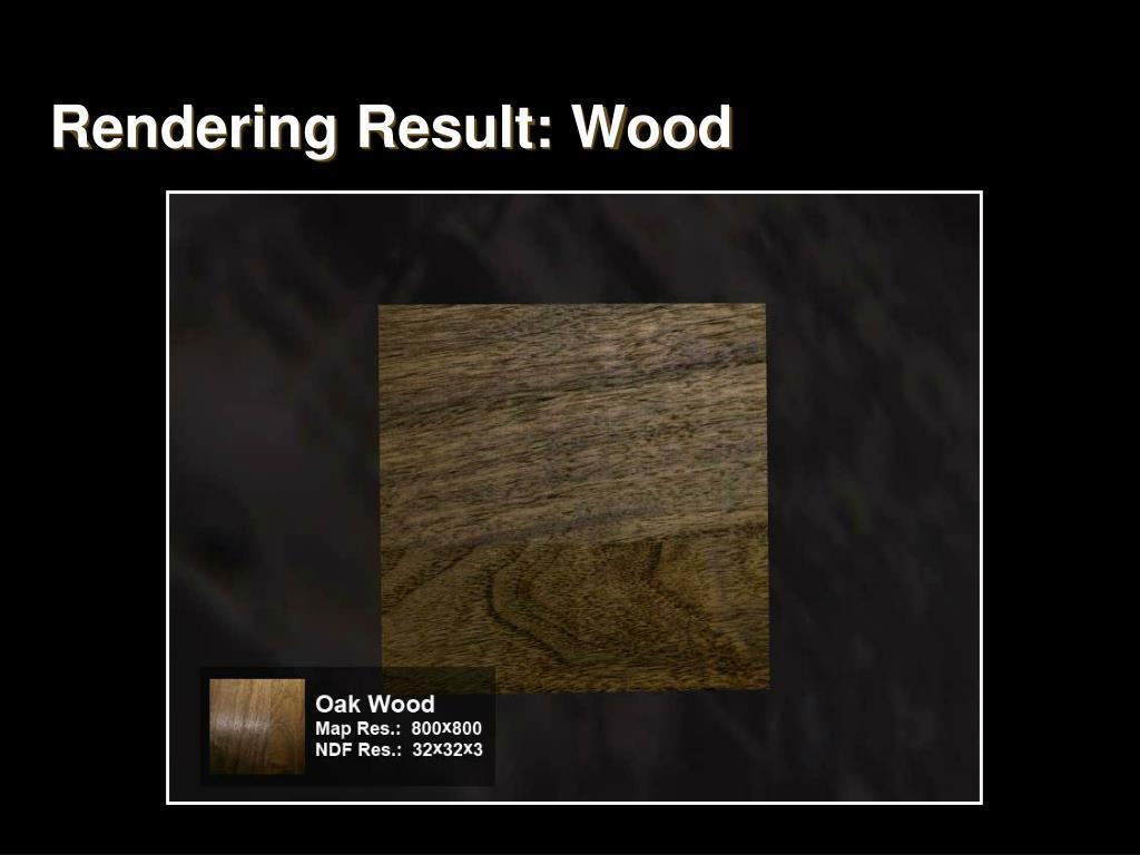 Rendering Result: Wood