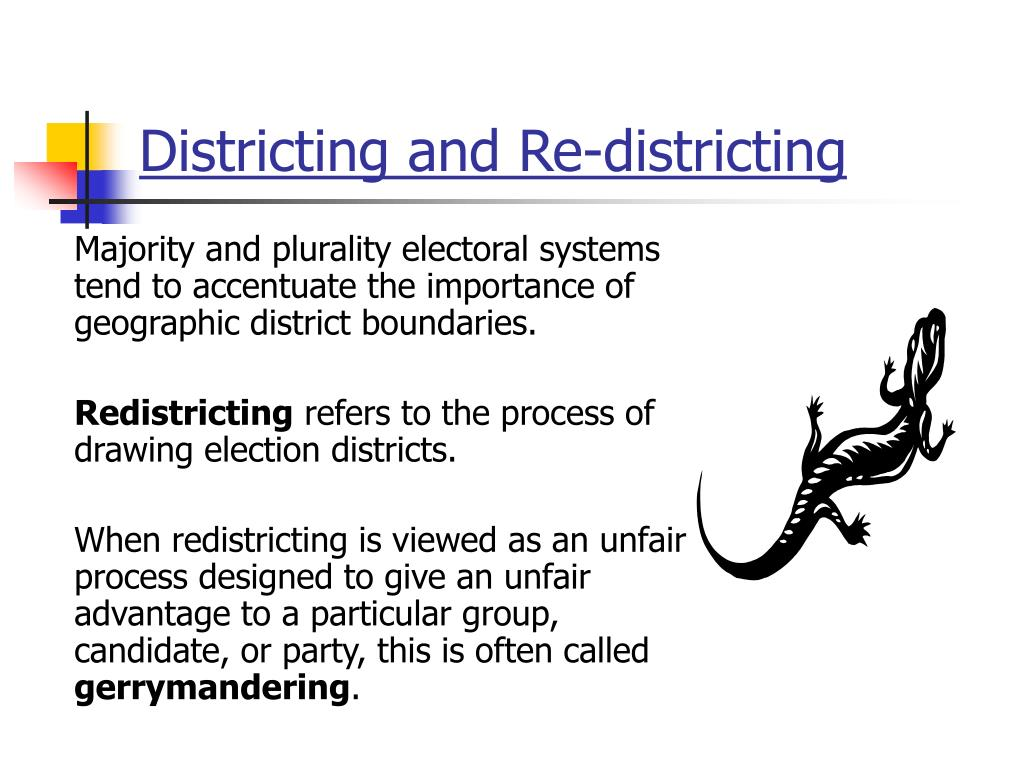 Districting and Re-districting