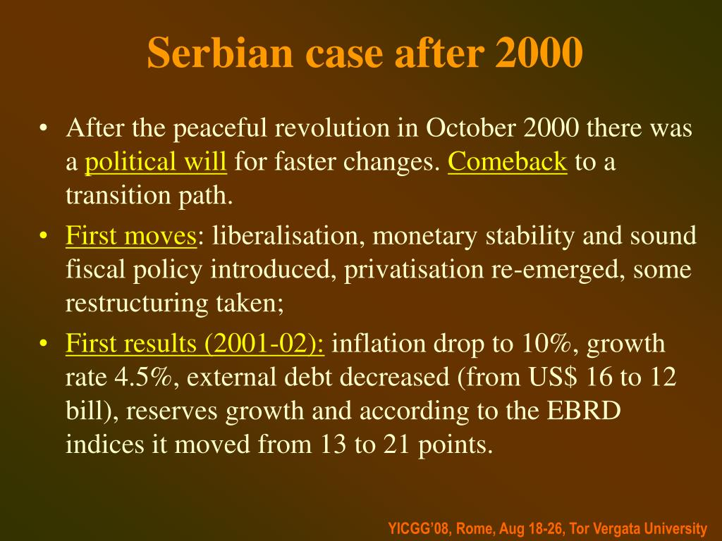 Serbian case after 2000