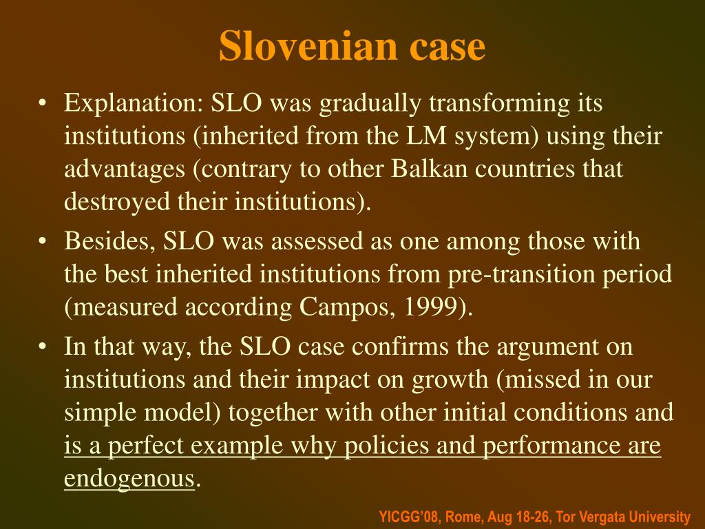 Slovenian case