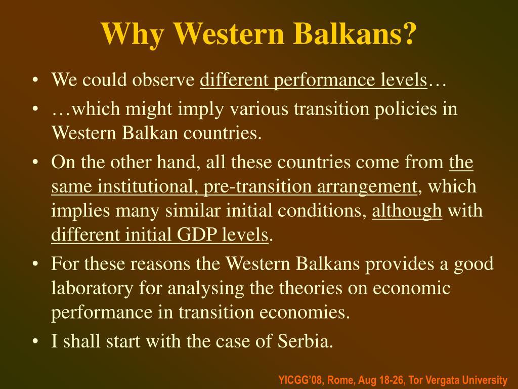 Why Western Balkans?