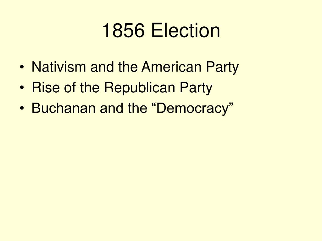 1856 Election