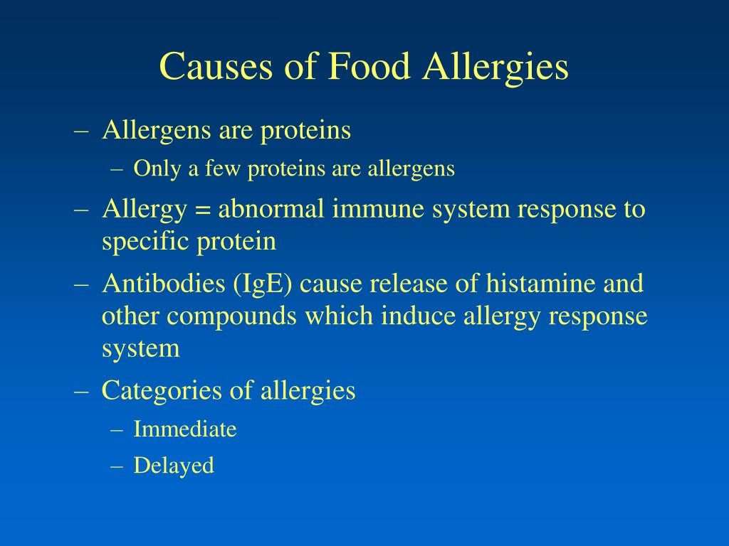 Causes of Food Allergies