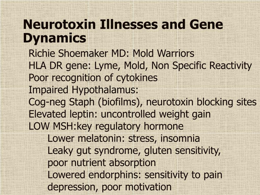 Neurotoxin Illnesses and Gene Dynamics