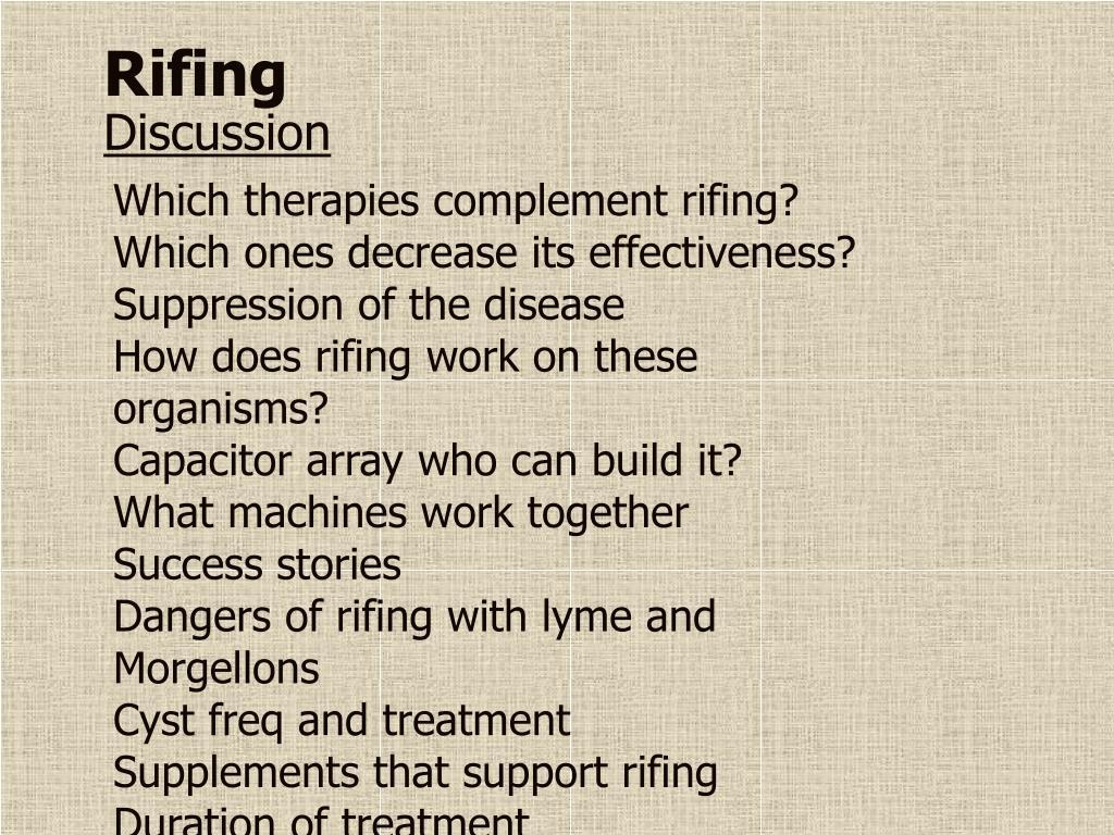 Rifing