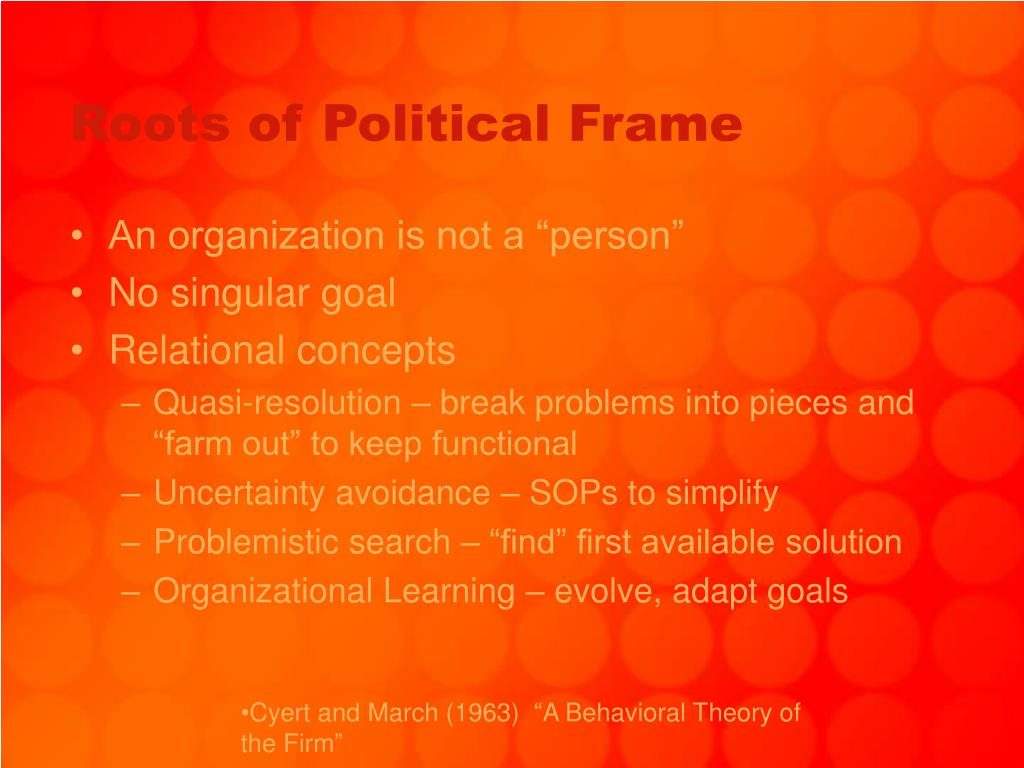 Roots of Political Frame