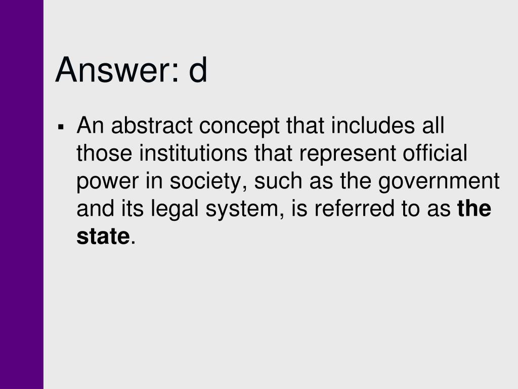 Answer: d