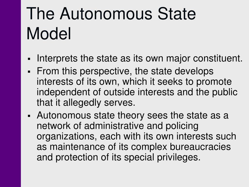 The Autonomous State Model