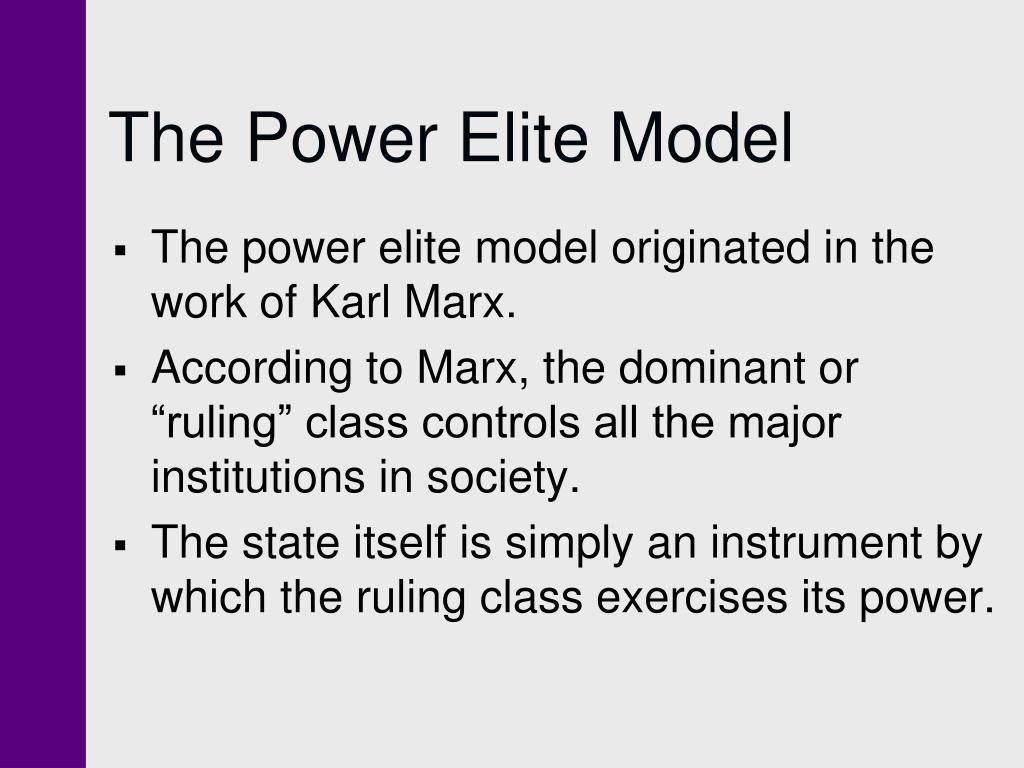 The Power Elite Model