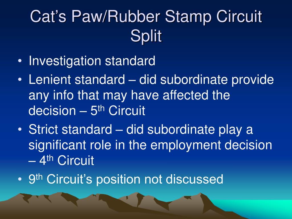 Cat's Paw/Rubber Stamp Circuit Split