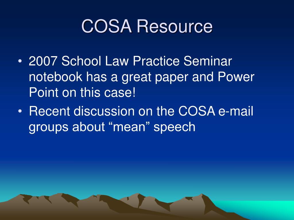 COSA Resource