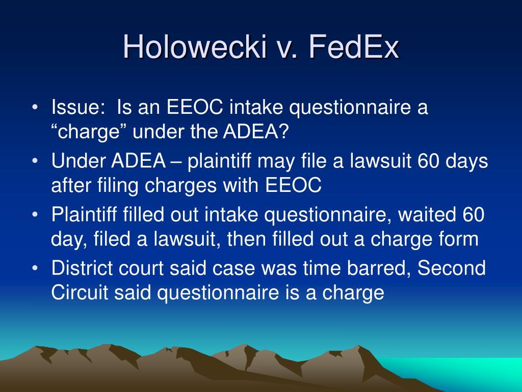 Holowecki v. FedEx