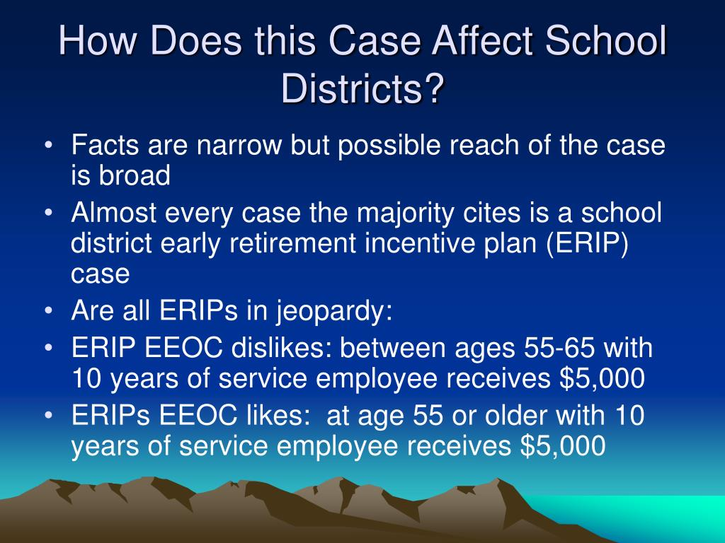 How Does this Case Affect School Districts?