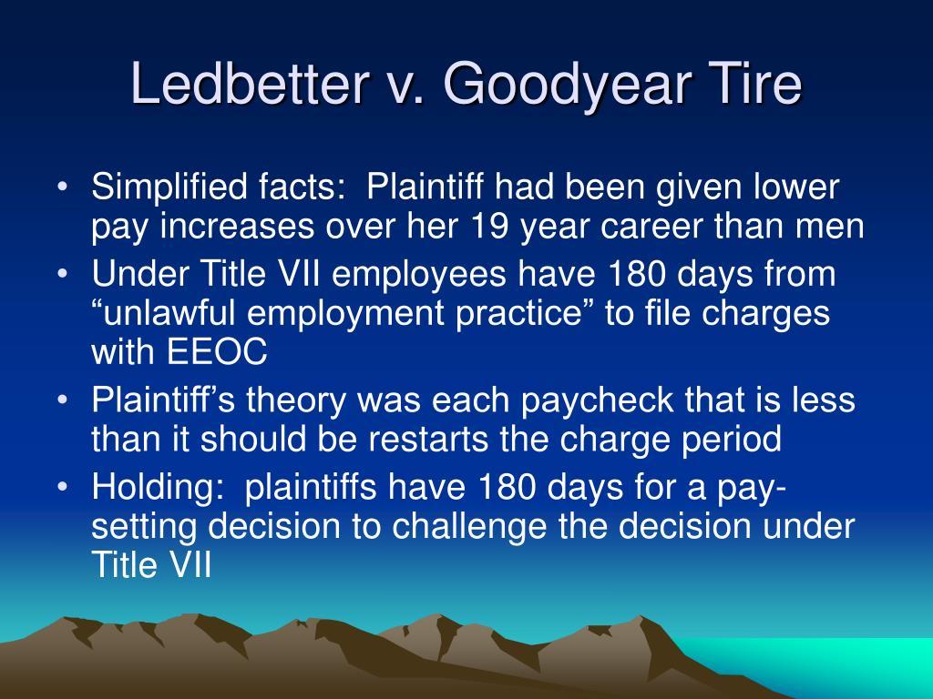 Ledbetter v. Goodyear Tire
