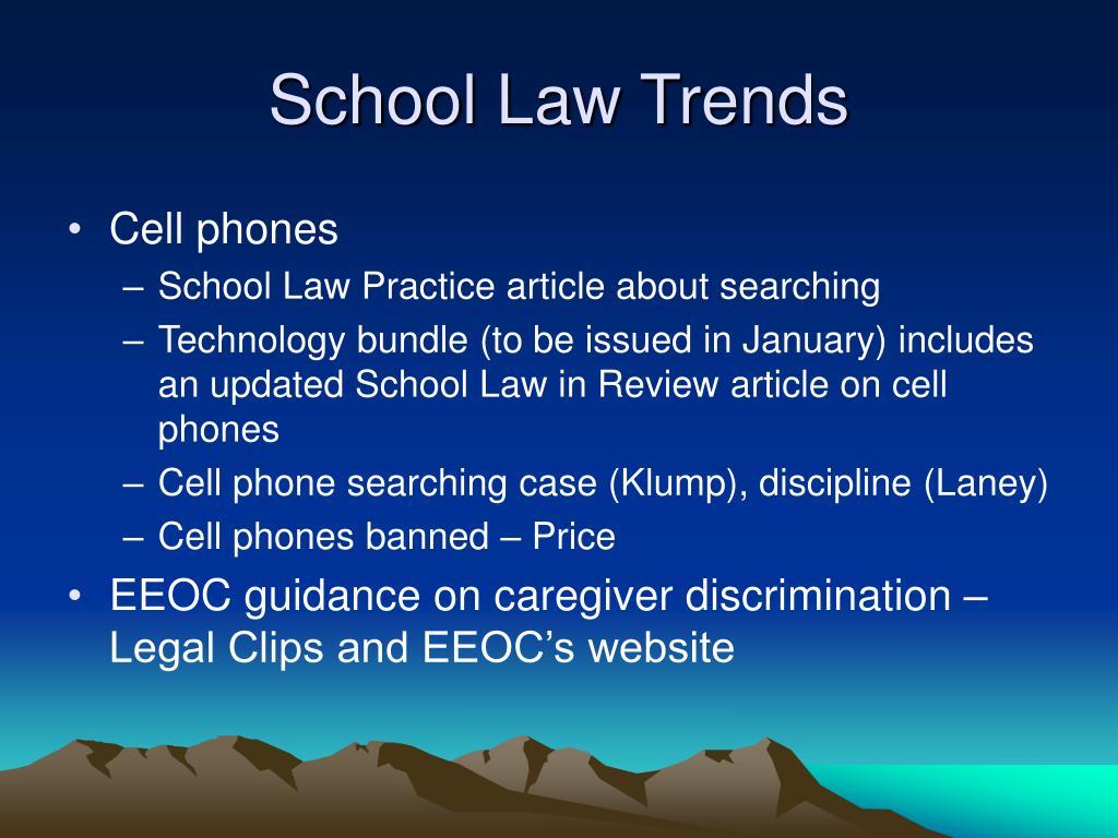 School Law Trends