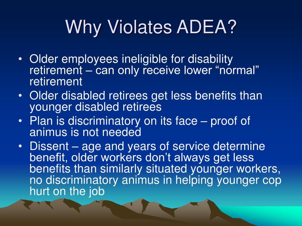 Why Violates ADEA?