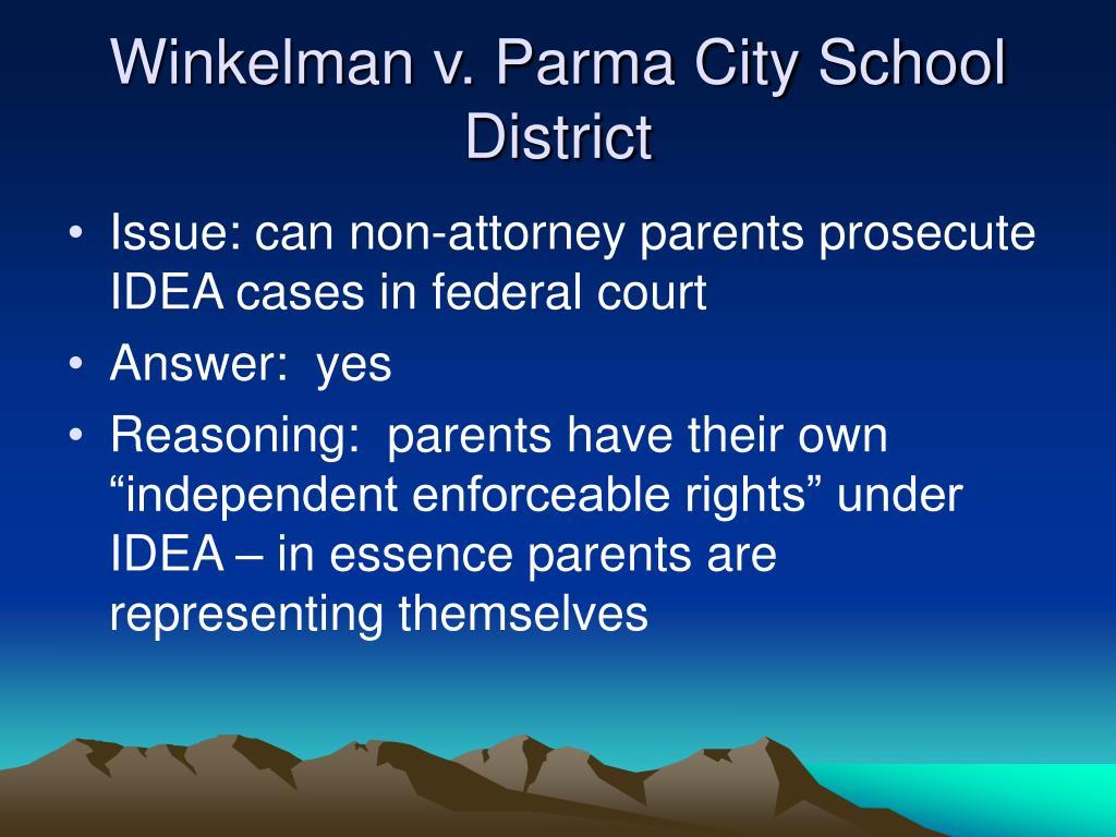 Winkelman v. Parma City School District