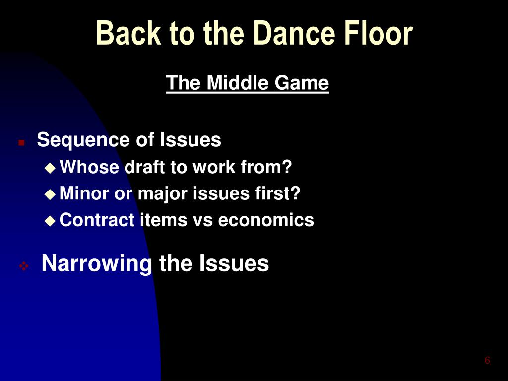 Back to the Dance Floor