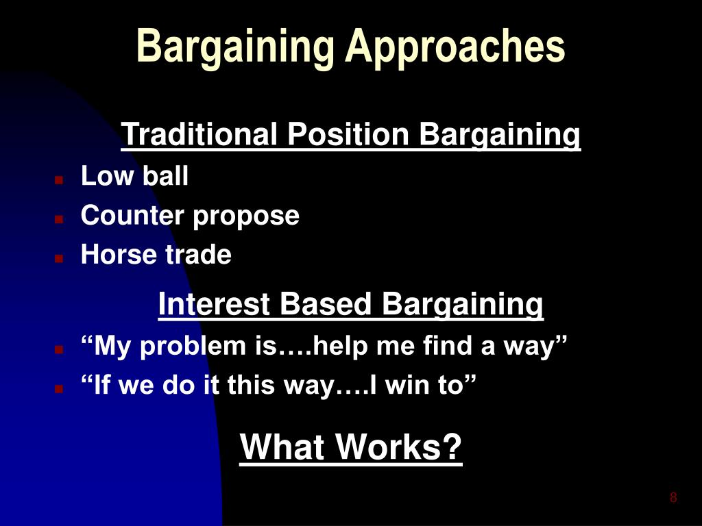 Bargaining Approaches