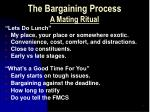 the bargaining process a mating ritual