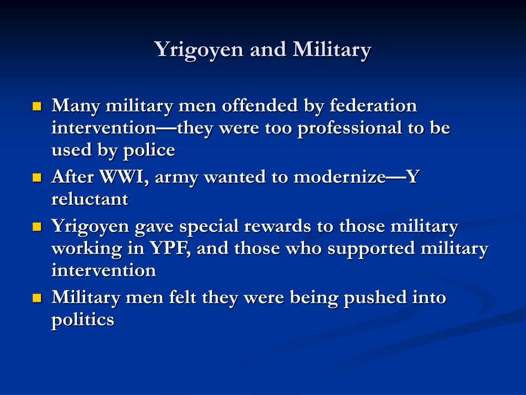 Yrigoyen and Military