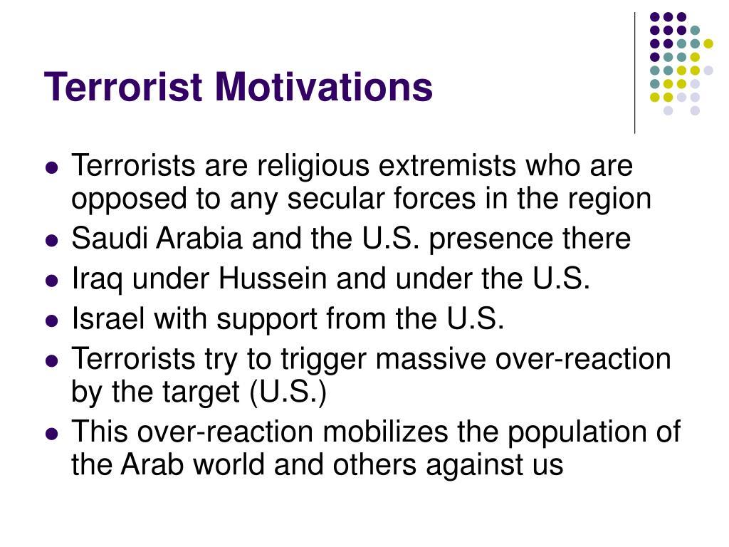 Terrorist Motivations