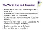 the war in iraq and terrorism