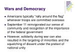 wars and democracy