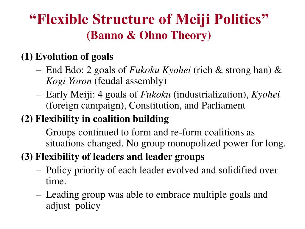 """Flexible Structure of Meiji Politics"""