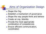 aims of organization design