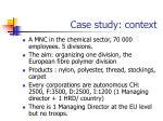 case study context