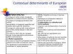 contextual determinants of european hrm whitley 1992