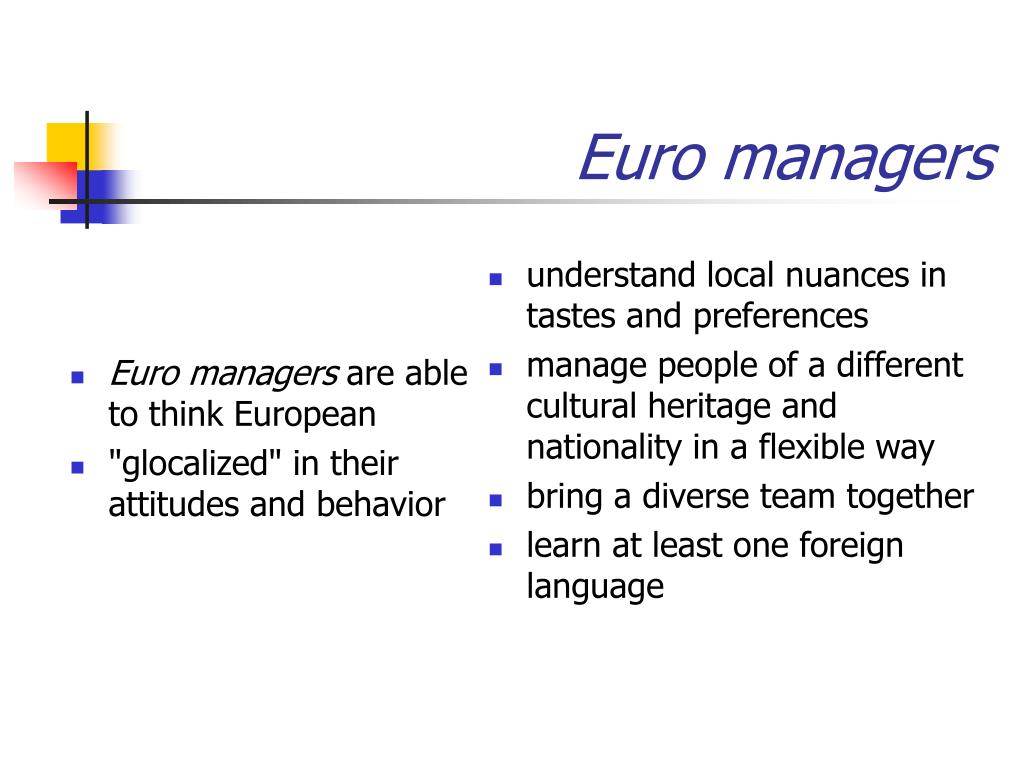 Euro managers