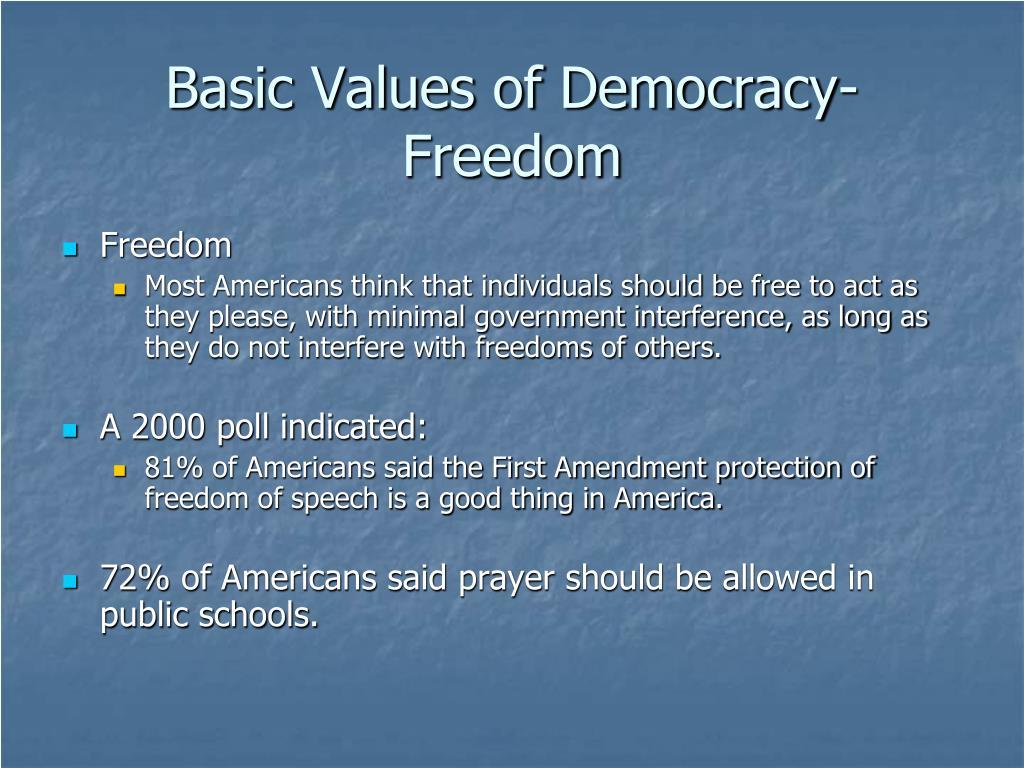 Basic Values of Democracy-Freedom